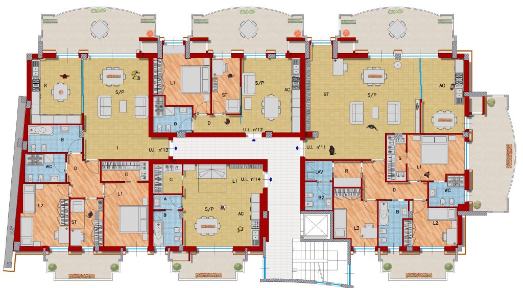 Residence panoramic vasto residence for Planimetrie di progettazione architettonica